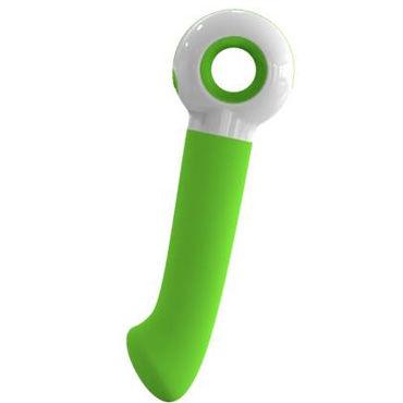 Odeco O-zone, зеленый Вибратор точки G с изгибом на конце