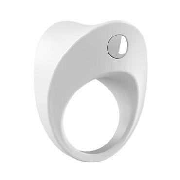Ovo B11 Эрекционное кольцо, белое, С виброэлементом, стимулирующее клитор