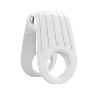 Ovo B12 Эрекционное кольцо, белое, С виброэлементом, два отверстия для пениса