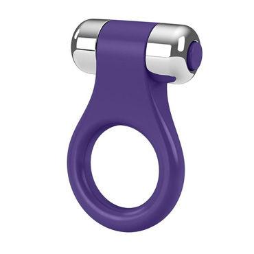 Ovo B1  Эрекционное кольцо, фиолетовое С виброэлементом