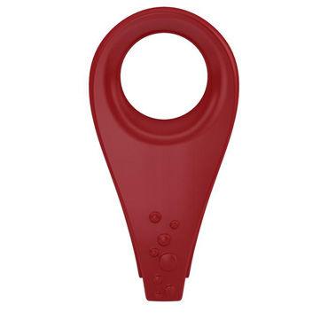 Ovo B3  Эрекционное кольцо, красное С виброэлементом и клиторальным стимулятором