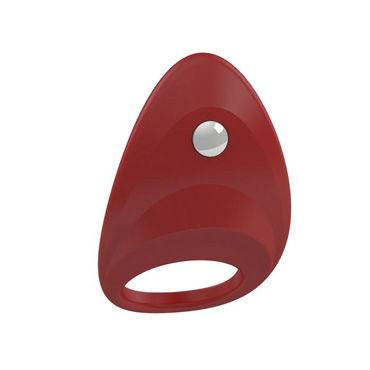 Ovo B7 Эрекционное кольцо, красное С виброэлементом, стимулирующее клитор