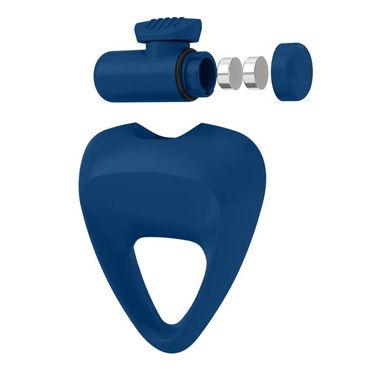 Ovo B9 Эрекционное кольцо, синее С виброэлементом, трехгранной формы