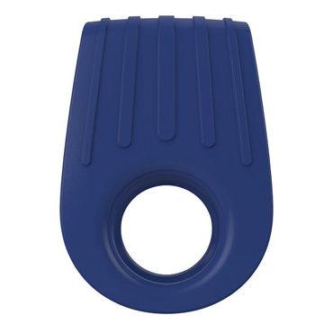 Ovo B12 Эрекционное кольцо, синее, С виброэлементом, два отверстия для пениса