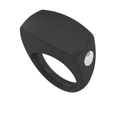 Ovo B6  Эрекционное кольцо, черное С виброэлементом