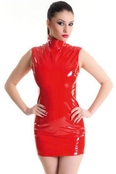 Erolanta платье, красное, С воротником-стоечка - Размер S