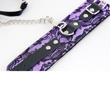 ToyFa Marcus Кружевной Набор, фиолетовый Ошейник и наручники