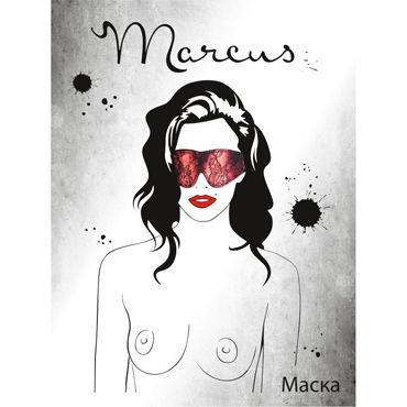 ToyFa Marcus Маска, красная С кружевной отделкой