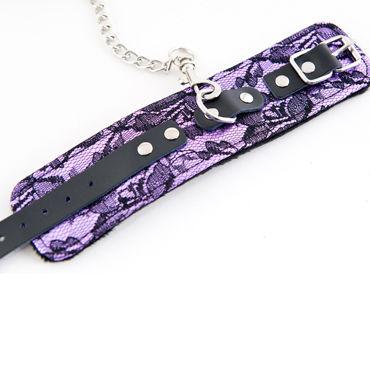 ToyFa Marcus Наручники, фиолетовые С кружевной отделкой
