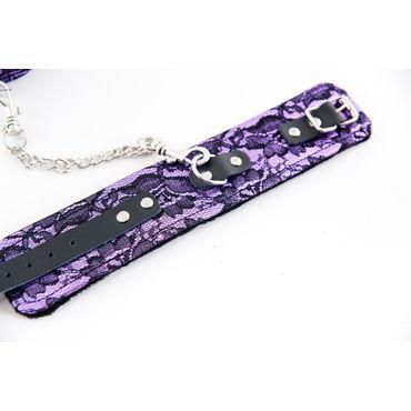 ToyFa Marcus Поножи, фиолетовые С кружевной отделкой