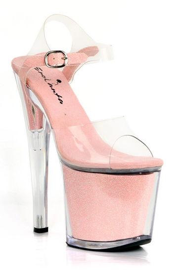 Erolanta туфли, розовые С прозрачными каблуками