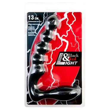 ToyFa Black&Red Light Анальный стимулятор, черный Двухсторонний