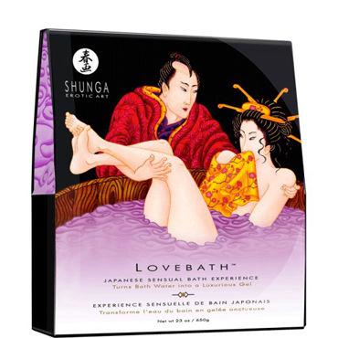 Shunga Lovebath Чувственный Лотос, 650гр Гель для ванной, фиолетовый