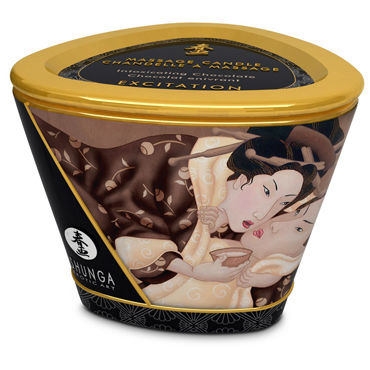 Shunga Massage Candle, 170мл Массажная свеча, пьянящий шоколад