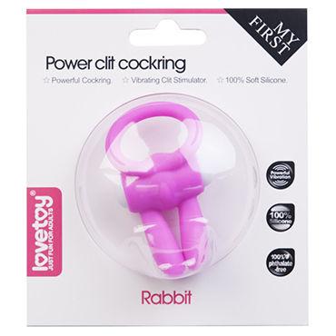 Lovetoy Power Rabbit Clit Cockring, розовое Эрекционное кольцо с вибрацией