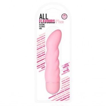 NMC All Flavours ребристый, розовый Гибкий вибратор