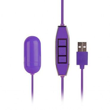 NMC Powerful X USB Mini Vibrator, фиолетовое Виброяйцо с USB-проводом