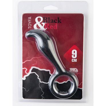 ToyFa Black&Red Стимулятор простаты, черный С кольцом