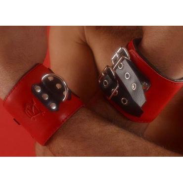 Podium наручники, красные, С двумя пряжками