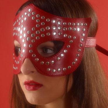 Podium очки-маска, красные, На кожаной подкладке