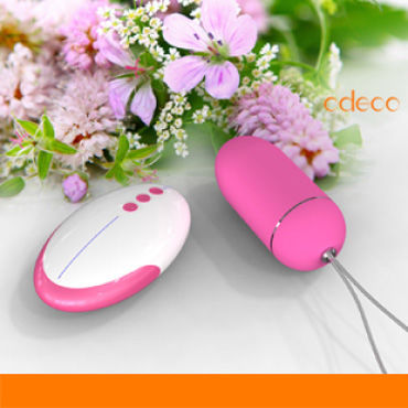 Odeco Remote Control Egg, темно-розовое Виброяйцо,7 режимов вибрации