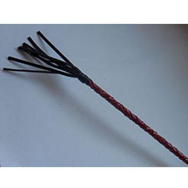 Podium стек 85 см, черно-красный, Наконечник-кисточка 10 см, лакированный