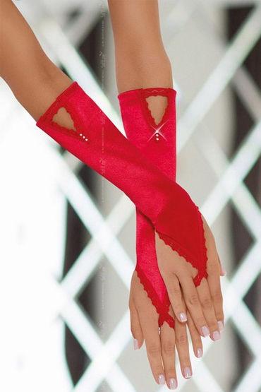 Soft Line перчатки, красные, Изысканный аксессуар - Размер Универсальный (XS-L)