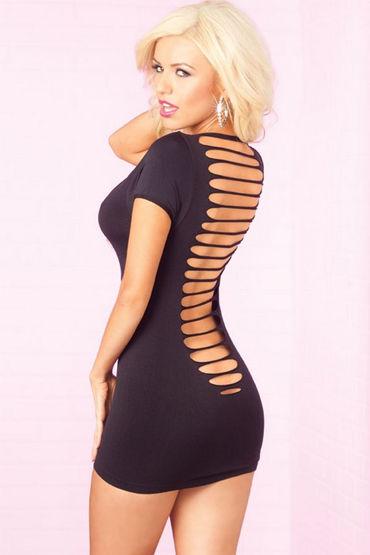 Pink Lipstick мини-платье, черное С пикантными вырезами на спинке
