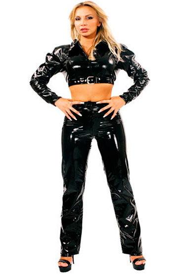 Ledapol брюки, черные Лаковые, облегающие