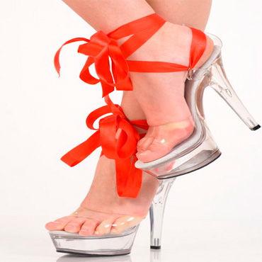 Erolanta туфли С прозрачной красной лентой