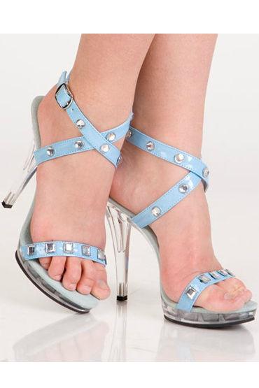 Erolanta туфли, синие C крупными стразами