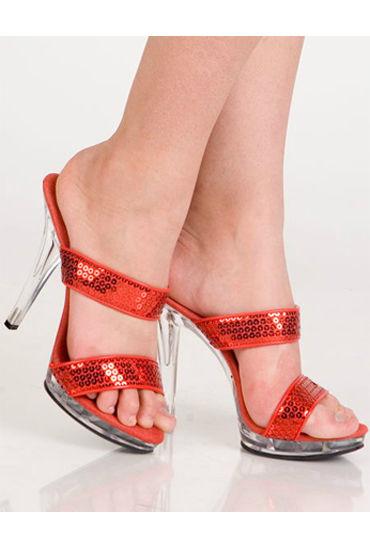 Erolanta туфли, красные С пайетками