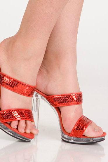 Erolanta туфли, красные, С пайетками - Размер 36