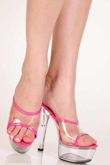 Erolanta туфли Прозрачные, с розовой отделкой