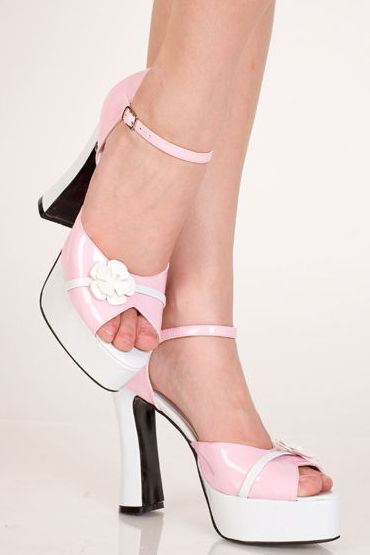 Erolanta туфли, розово-белые, В ретро стиле - Размер 37