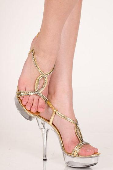 Erolanta туфли, золотистые Со стразами