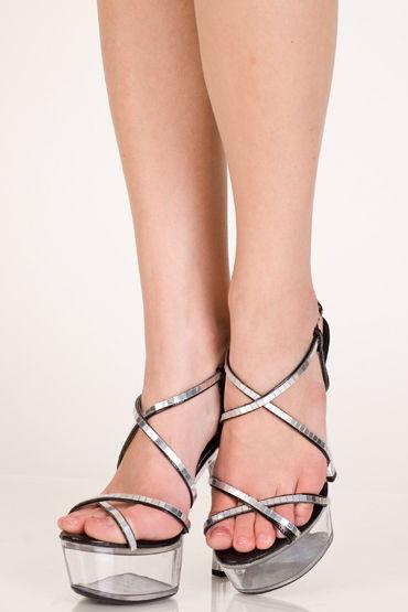 Erolanta туфли, черные С прозрачной платформой