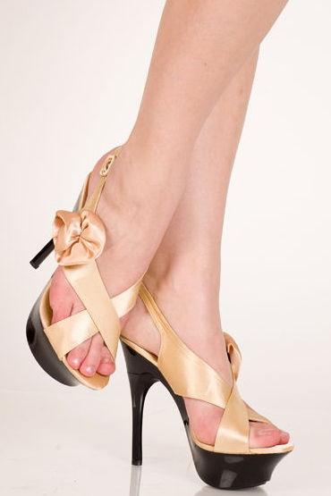 Erolanta туфли, золотистые С аппликацией в виде цветка