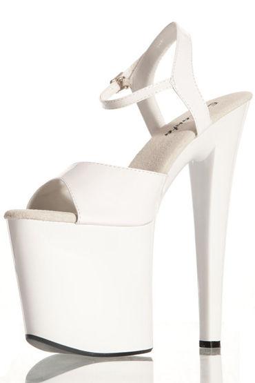 Erolanta туфли, белые С экстремальной платформой