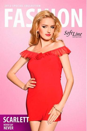 Soft Line Scarlett, красный Платье с открытыми плечами