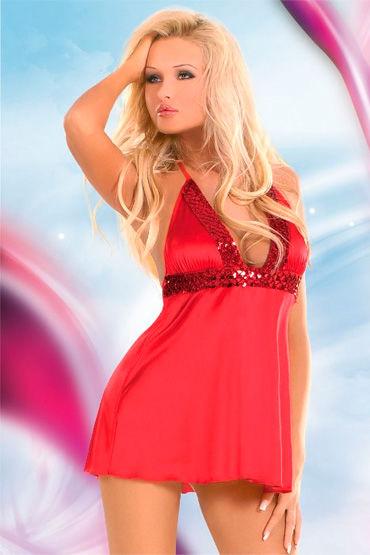 Soft Line платье, С пайетками на лифе - Размер M-L