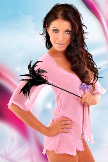 Soft Line комплект, розовый Очаровательный пеньюар и трусики