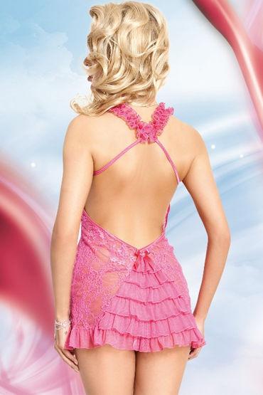 Soft Line комплект, розовый Кружевная комбинация и трусики