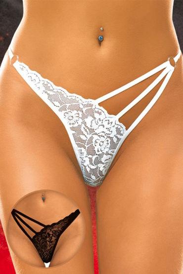 Soft Line трусики, черные, С цветочным кружевом - Размер M-L