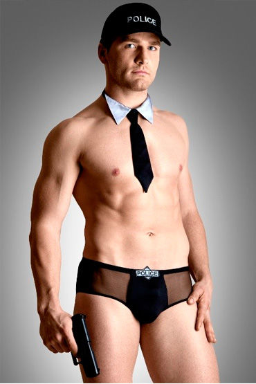 Soft Line Полицейский, Шорты, галстук и кепка - Размер M-L от condom-shop.ru