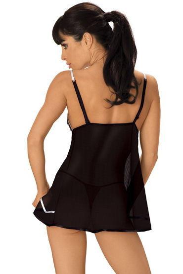 Roxana комплект, черный Ажурная отделка, открытая грудь