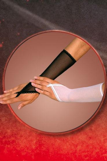 Soft Line перчатки, белые С петелькой на один палец