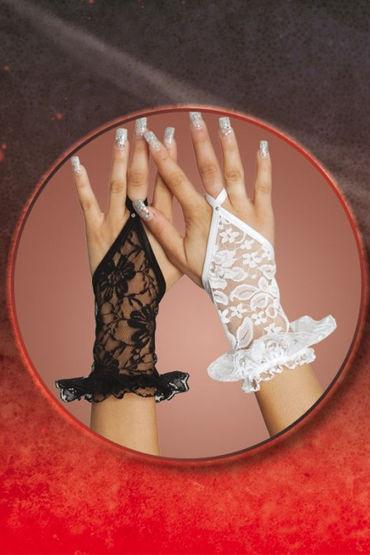Soft Line перчатки, белые Кружевные, короткие