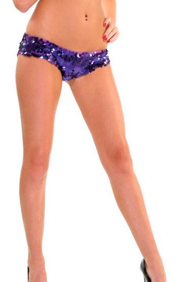 Forplay Lingerie трусики, фиолетовые С пайетками, в виде шортиков