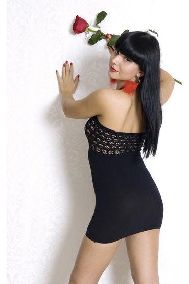 Erolanta Net Magic, платье, черное Бесшовное, с ажурным верхом